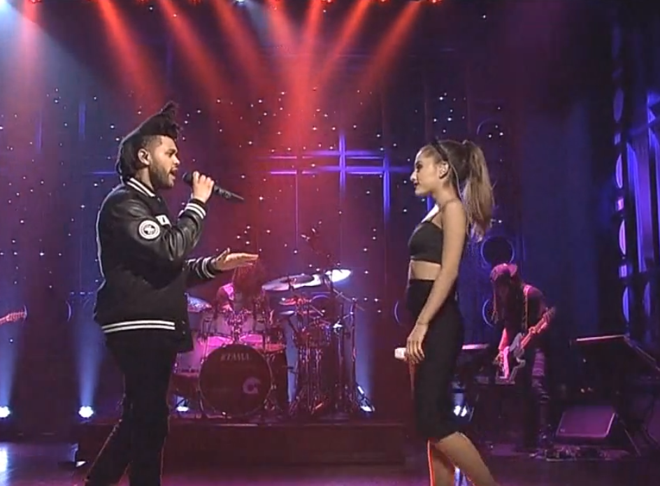 Ariana Grande And The Weeknd Perform Love Me Harder On